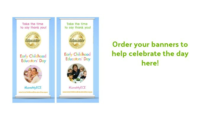 Early Childhood Educators' Day banners