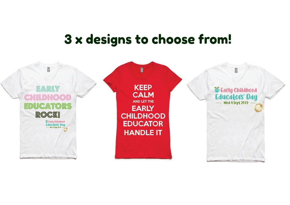 Here's how to order  your Early Childhood Educators' Day T-shirts !